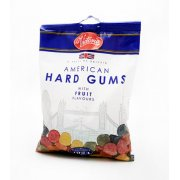 American Hard Gums with Fruit Flavours 250g Bag A Taste of Britain