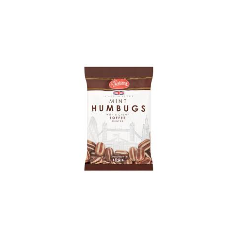 Victoria Confectionery Mint Humbugs With a Chewy Toffee Centre Big 250g Bag A Taste of Britain