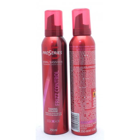 Vidal Sassoon ProSeries Frizz Control Taming Mousse 250ml