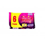 Vimto Chewy Sweets 6 Pack Mix Fruit Flavour Chews with the Secret Vimto Flavour