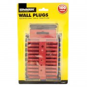 Walls Plugs Pack of 100 Assorted Sizes From Edwards Tools & accessories