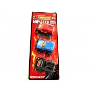 Xtreme Monster Truck Racers Pack of 3 Pull Back and Go