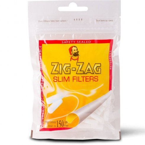 Zig Zag Slim Finest Quality Filter Tips  Safety Sealed Bag of 150 Filters
